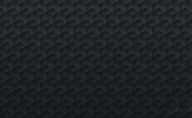 Il mosaico geometrico del cubo di colore nero astratto di pendenza modella il fondo e la struttura.