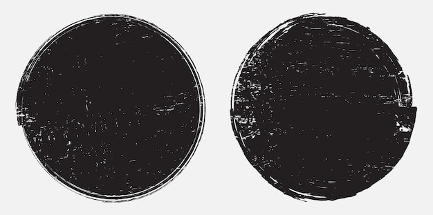 Bollo rotondo del grunge nero astratto
