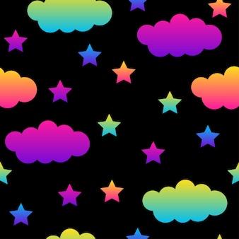 Fondo senza cuciture astratto nero e arcobaleno. vernice campione moderna per biglietto d'auguri, invito a una festa, carta da parati in vendita, carta da regalo per le vacanze, tessuto, stampa borsa, t-shirt, pubblicità in officina