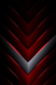 Fondo geometrico nero e rosso astratto