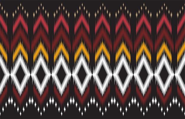 Modello nativo geometrico nero e rosso astratto senza cuciture. sfondo geometrico ripetuto