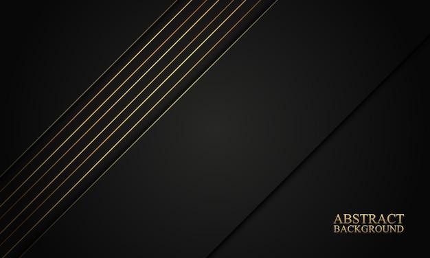 Strisce nere astratte e sfondo di linee dorate illustrazione vettoriale