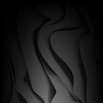 Astratto sfondo ondulato nero