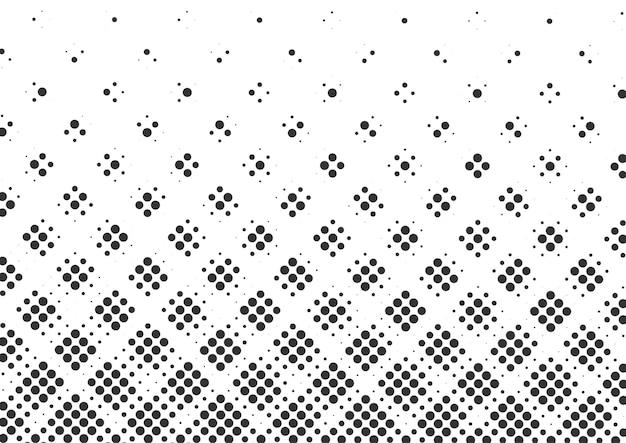 Priorità bassa di mezzitoni di punti in bianco e nero astratti, disegno di sfondo di mezzitoni