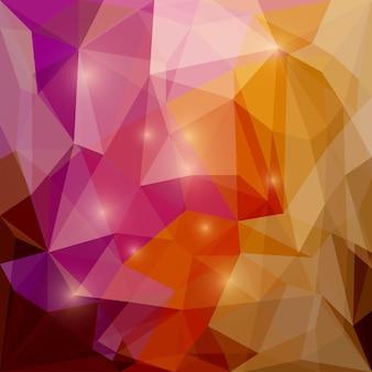 Fondo geometrico triangolare di vettore poligonale misto astratto con luci abbaglianti luminose da utilizzare nel design per la copertura di biglietti, inviti, poster, striscioni, cartelloni o cartelloni pubblicitari