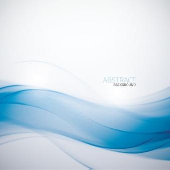Astratto blu business wave sfondo modello vettoriale
