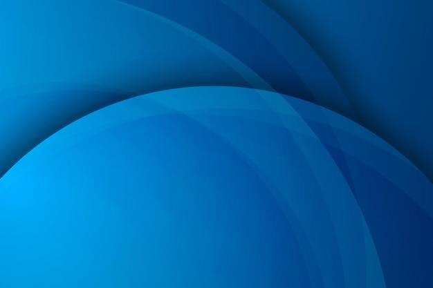 Fondo circolare blu astratto di strato di sovrapposizione