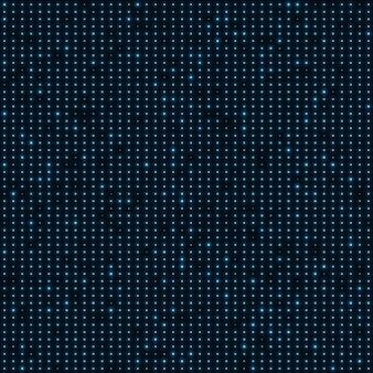 Fondo punteggiato dei punti al neon blu astratti di colore.
