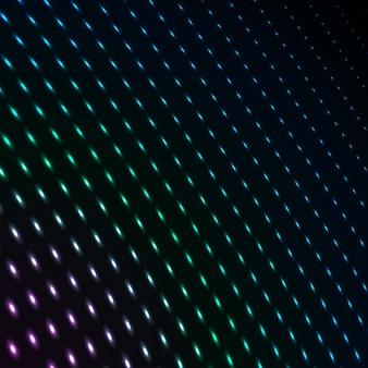 Punti al neon di colore blu astratto