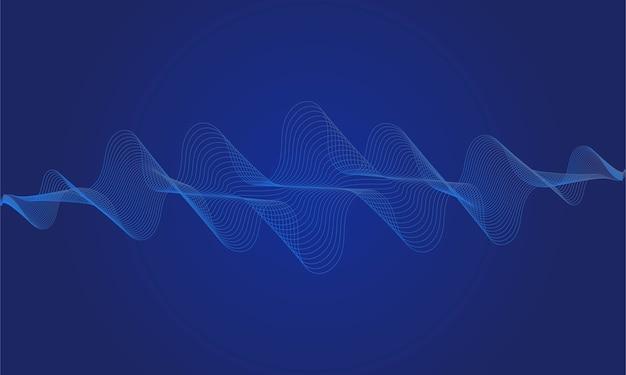 Equalizzatore digitale blu astratto, dell'elemento del modello dell'onda sonora