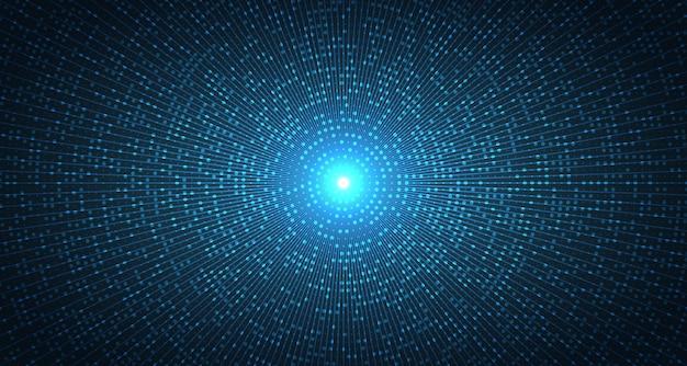 Modello futuristico astratto del punto blu del fondo del materiale illustrativo centrale.