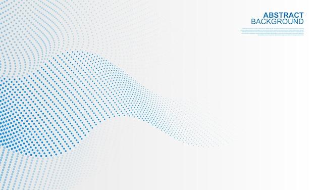 Fondo ondulato astratto del punto blu illustrazione vettoriale