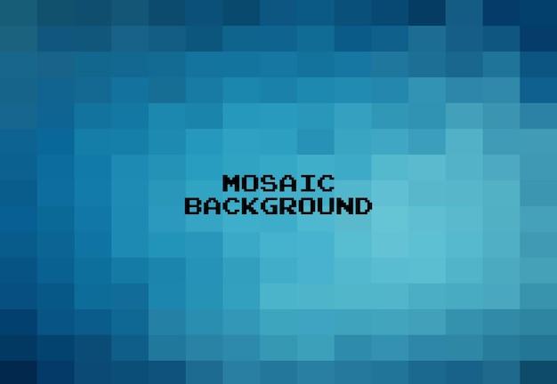 Fondo geometrico blu astratto, mosaico di griglia di arte del pixel, fondo di 8 bit.