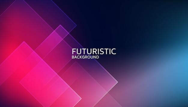 Fondo futuristico di forma geometrica blu astratta Vettore Premium