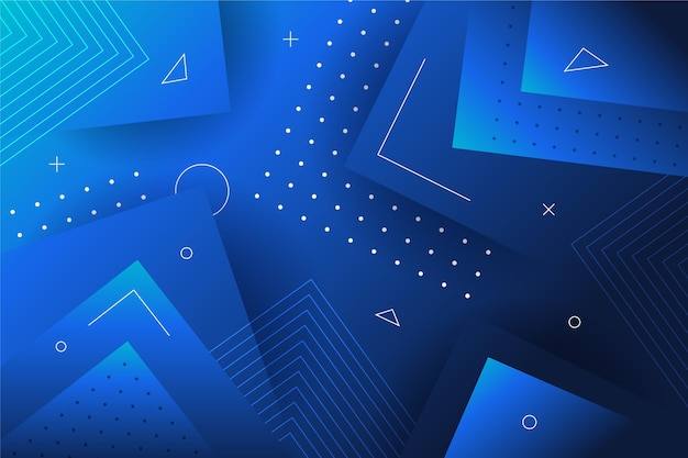 Astratto geometrico blu