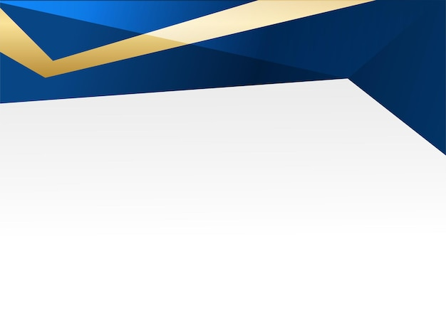 Sfondo astratto blu e oro. lo sfondo blu navy di lusso si combina con elementi di linee dorate incandescenti. sovrapposizione di sfondo strutturato per banner, poster, design di presentazione, volantino