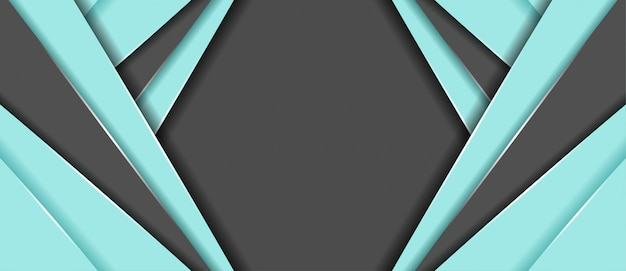 Colore blu e grigio astratto con sfondo di banner di forma geometrica