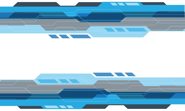 Tecnologia geometrica cyber grigia blu astratta su fondo futuristico moderno di progettazione bianca