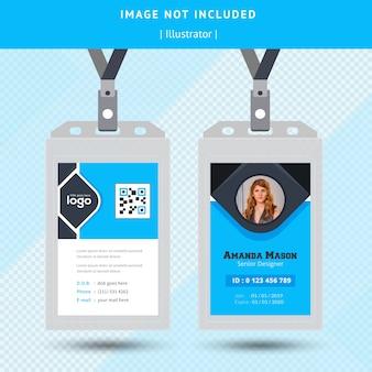 Estratto blu carta d'identità