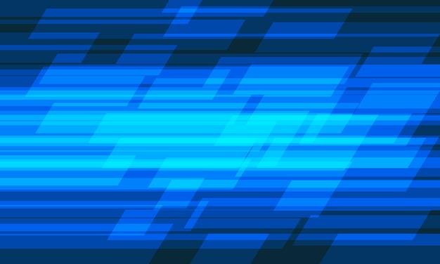 Fondo futuristico moderno di tecnologia di progettazione geometrica della velocità della luce blu astratta.