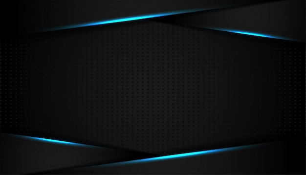 Linea di luce blu astratta su sfondo nero