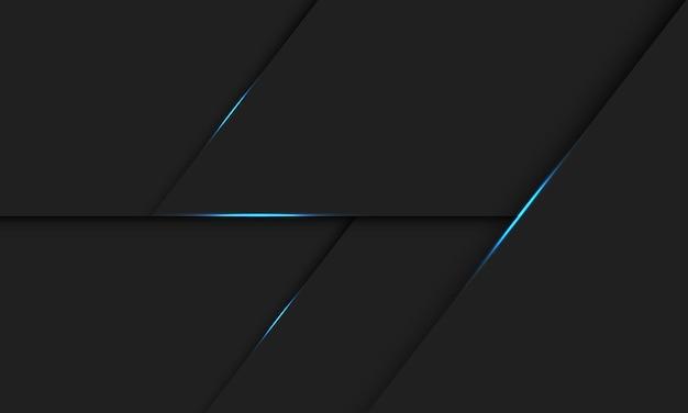 Linea di luce blu astratta ombra su design grigio scuro moderna tecnologia futuristica illustrazione dello sfondo.