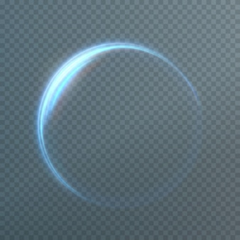 Linee di luce blu astratte che vorticano in spirali linee di simulazione del movimento leggero scia luminosa da