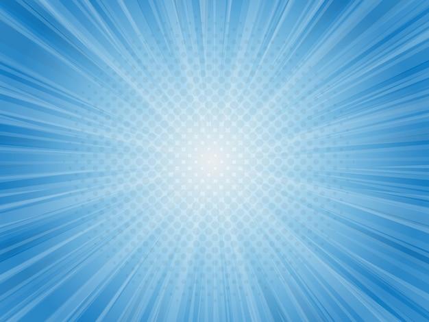 Priorità bassa blu astratta dell'illustrazione di vettore dei raggi luminosi