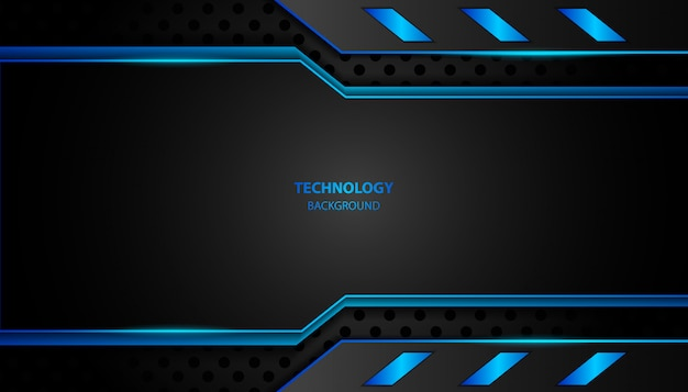 Astratto sfondo tecnologia luce blu