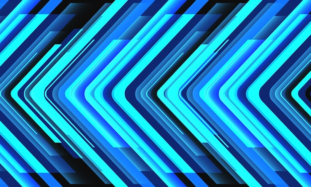 Vettore futuristico astratto del fondo di tecnologia geometrica di direzione della freccia al neon blu