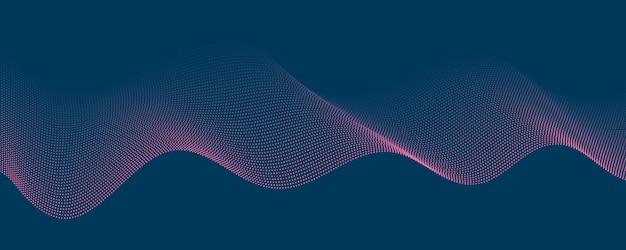 Fondo rosa blu astratto del punto del modello con il triangolo dinamico. tecnologia particle mist rete cyber security.
