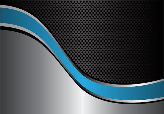 Curva di linea blu argento astratto