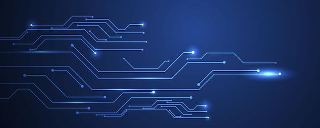 Fondo blu astratto di concetto di comunicazione di tecnologia