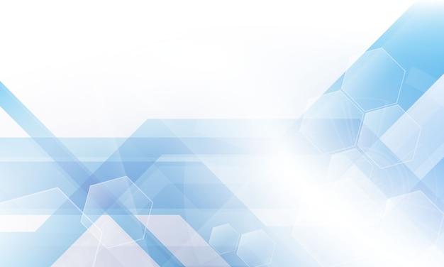 Fondo blu astratto di vettore di concetto di comunicazione di tecnologia