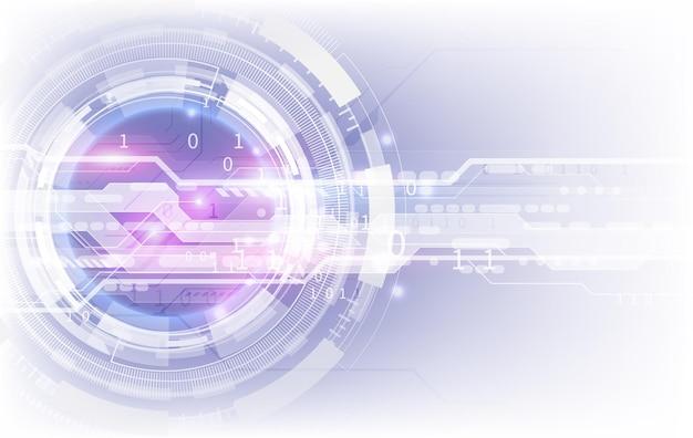Concetto di tecnologia blu astratto. sfondo