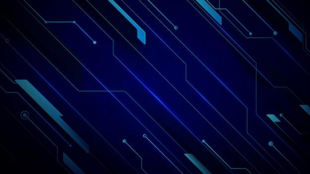 Tecnologia blu astratto hi-tech futuristico digitale innovazione sullo sfondo.