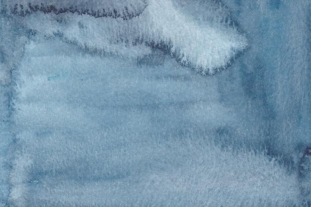Acquerello astratto blu trama acquerello disegnato a mano