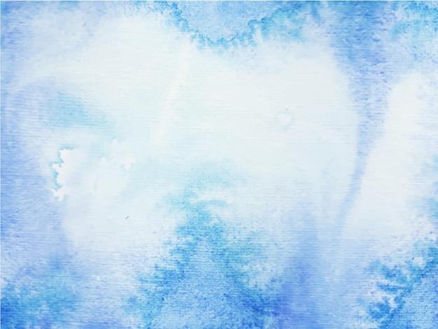 Priorità bassa blu astratta dell'acquerello. è disegnato a mano.