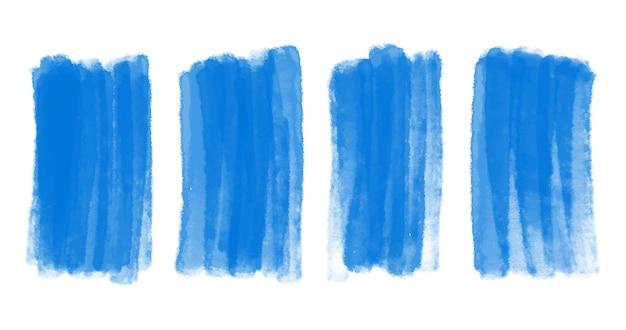 Pennellata di acquerello blu astratto