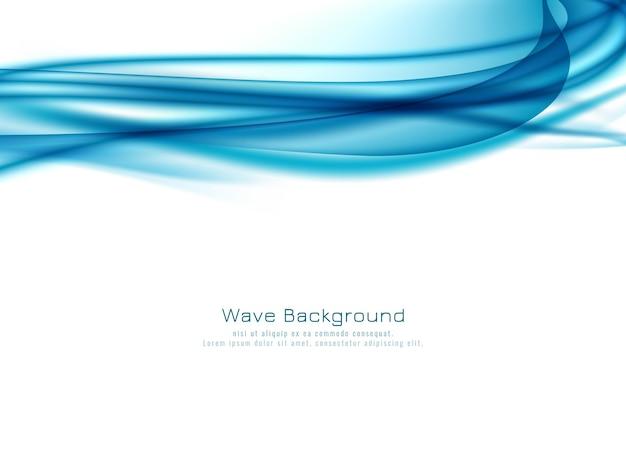 Fondo alla moda dell'onda blu astratta