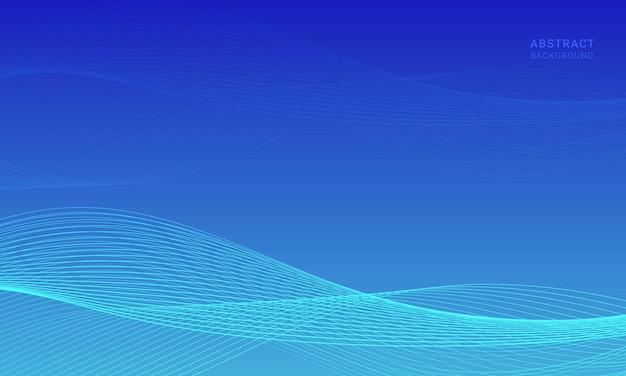Fondo ondulato blu astratto con onda di linea.