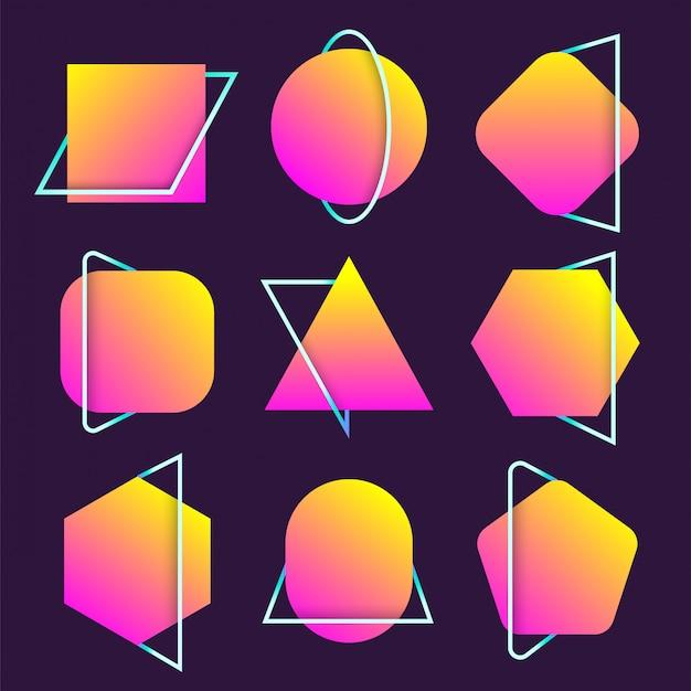 Set di forme di forma libera di sfocatura astratta