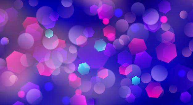 Astratto sfondo sfocato con effetto bokeh nei colori blu