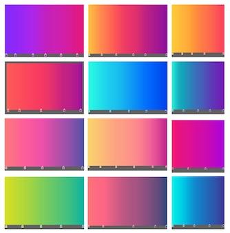 Astratto sfondo sfumato sfumato maglie in brillante colorato liscio. illustrazione con colori vivaci dell'arcobaleno. qualità premium. concetto di sfondo per grafica, banner o poster.