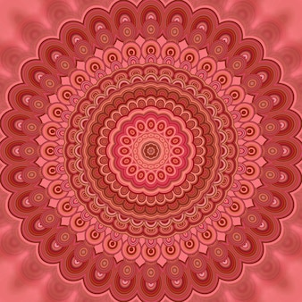 Astratto bohemien mandala frattale sfondo - rotondo simmetrico modello di modelli vettoriali da forme ovali concentrici
