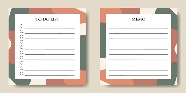 Modello di elenco di cose da fare boho astratto stampabile