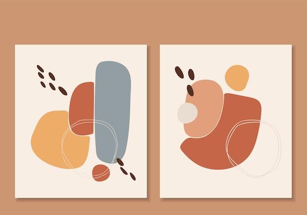 Insieme astratto dell'illustrazione di forma di boho