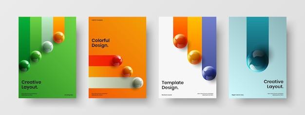 Copertina del libro astratto a4 design vector concept set