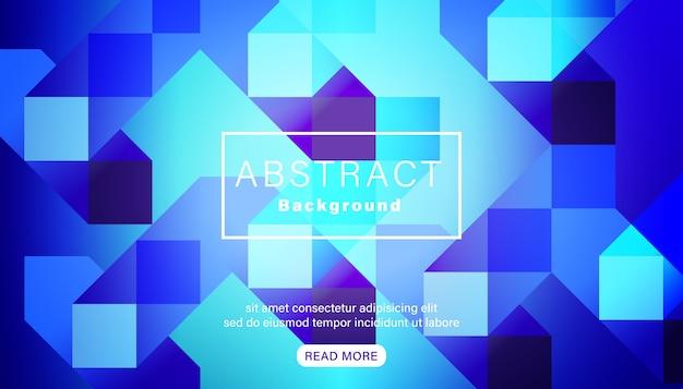 Fondo quadrato blu vivido luminoso astratto