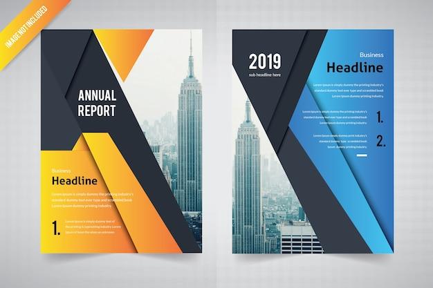 Progettazione astratta dell'opuscolo per il rapporto annuale